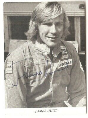 James Hunt – 2 signed postcards