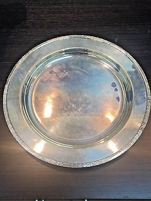 """Vintage International Silver Company CAMILLE Round Serving Tray 14"""""""