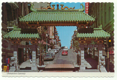 San Francisco Chinatown Gateway Vintage Postcard - California