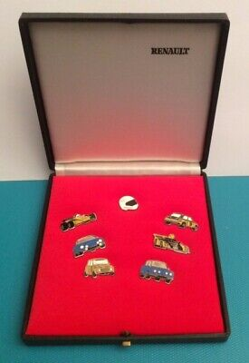 Coffret 7 Pin's Original BOX RENAULT Full Set ALPINE R5 Turbo R8 GORDINI F1 ELF