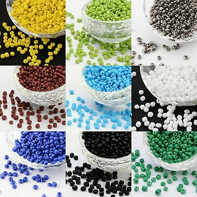 GLASS SEED BEADS SIZE 6/0 (4mm) OPAQUE 50g CHOICE OF COLOURS (UK STOCK)