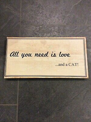 """Bild """"All You Need Is Love And A Cat"""""""
