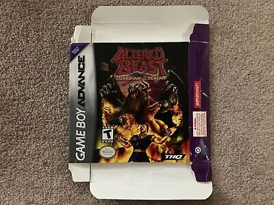 BOX ONLY Altered Beast Guardian Of The Realms Game Boy Advance GBA NO GAME