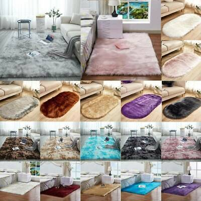 Fluffy Rugs Anti-Skid Shaggy Washable Rugs Carpet Living Room Bedroom Floor Mats
