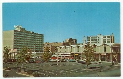 Worcester MA Seven Hills Plaza Bus Station Holiday Inn Postcard - Massachusetts