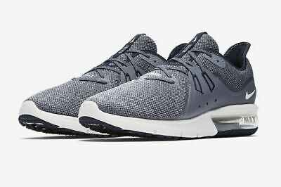 Nike Air Max Sequent 3 Running Shoes Obsidian Blue White 921694-402 Men's NEW