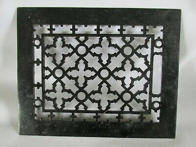 Antique Victorian Patterned Grate, Vent, Register Cover, Cast Iron, Salvage