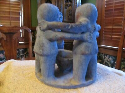 Unique Large Pre-Columbian style clay candle holder. Excellent condition.