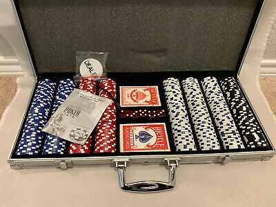 Vintage World Series of Poker Excalibur Set With Metal Case 401 Chips~ New Cards