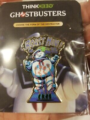 Rare SDCC 50 2019 Con Exclusive Ghostbusters Stay Puft Enamel Pin Think Geek New