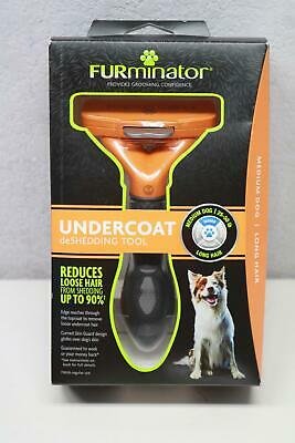 "FURminator Undercoat Deshedding Tool 2.5"" Brush for Medium to Long Hair Dogs"