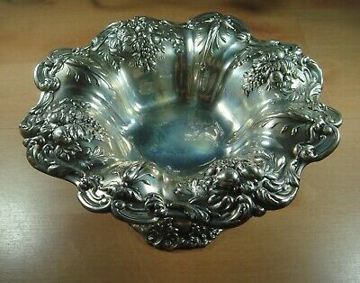 """Reed & Barton Francis I Sterling Silver 8"""" Compote Drum Year Mark (1950) X 568"""