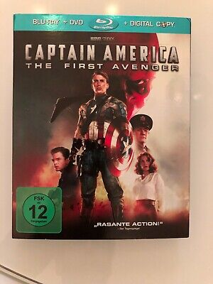Captain America - The First Avenger Blu Ray + DVD Marvel - Wie Neu