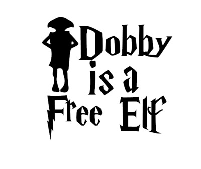 Harry Potter Dobby's Sock Drawer Vinyl Decal Sticker for ... |Dobby Harry Potter Svg