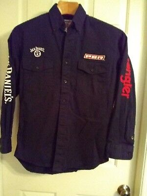 Wrangler Jack Daniel's & Pbr Black Cotton Shirt Size Medium