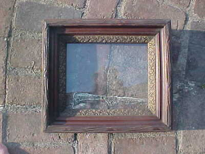 """Antique Gilt Deep Walnut Carved Picture Frame  Shadow Box For 8 x 10"""" Art"""