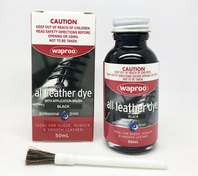 Waproo Black Leather Dye For Leather  Shoe Bag Boot - FREE POST ( Back In Stock)