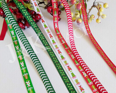 3 meters 10mm Width Satin Ribbon Scrapbook Christmas Wrap Party Decor