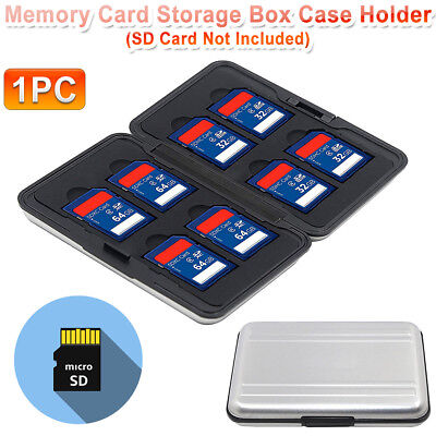 New Aluminum Memory Card 16 Micro SD SDHC Protecter Storage Holder Pouch Case