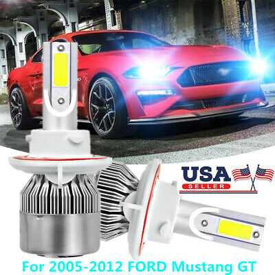 LED Headlight Hi//Low Kit H13 9008 White CREE Bulbs for 2005-2012 FORD Mustang GT