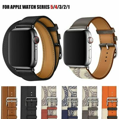38/42/40/44mm Genuine Leather Apple Watch Band Strap for iWatch Series 5 4 3 2 1