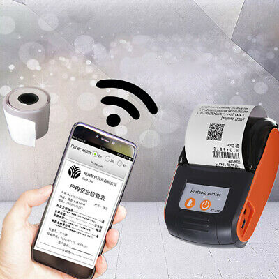 POS Receipt Machine Thermal Printer Wireless Bluetooth For PC Android iOS 58mm