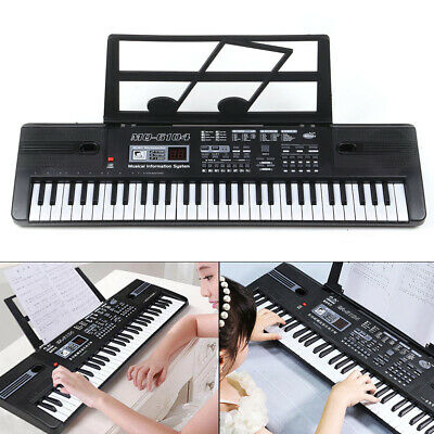 61 Key Electric Digital Piano Organ Musical Beginner Electronic Keyboard W/ Mic