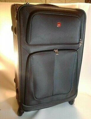 """Swiss Army Gear Soft side 360 Spinner Expandable Suitcase 28' x 18"""" & Locks Gray"""
