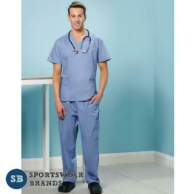 Unisex Scrubs Top & Pant Set - Mens Ladies Vet Doctor Nurse Medical Uniforms New