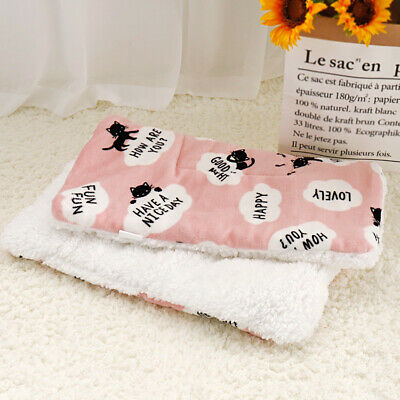 Washable Soft Pet Bed Small Dog Cat Fleece Puppy Cushion Warm Sofa Crates Mat