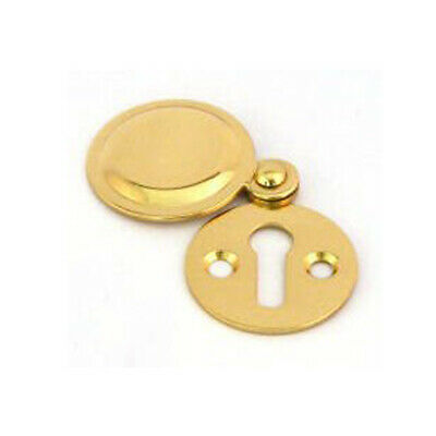 Polished Brass 32mm Keyhole Covered Escutcheon