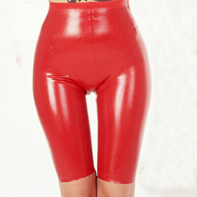 Hot Sale Latex Boxer Shorts Gummi Rot Cool Pants Rubber Short Hose Fixed Size XL