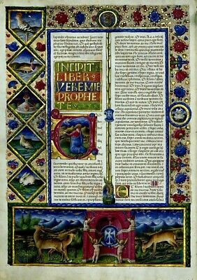 Illuminated manuscript High Quality  Re-production New