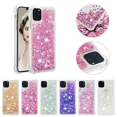 For iPhone 11 Pro Max 11 XR 8 Liquid Glitter Slim Soft TPU Case Shockproof Cover