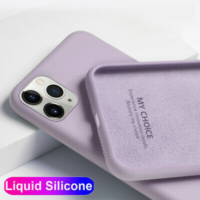 Liquid Silicone Case Cover For iPhone 11 Pro Max XR XS 8 7 Plus 6s Color Soft