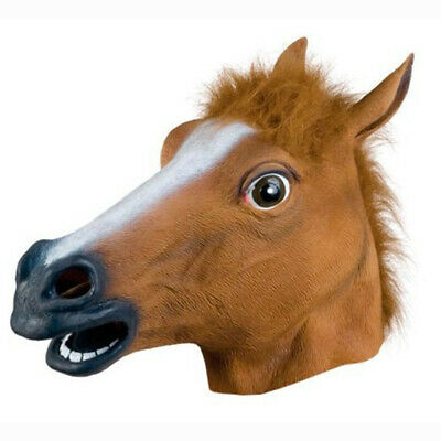 Happy Halloween Halloween Mask Ball COS Latex Horse Head Mask Interesting Vogue