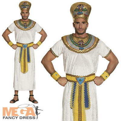 Egyptian Imhotep Mens Fancy Dress Ancient Egypt King Pharaoh Adults Costume New