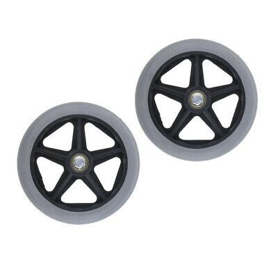"2x 6"" Heavy Duty Plastic Wheelchair Replacement Front Wheel Castor Supplies"