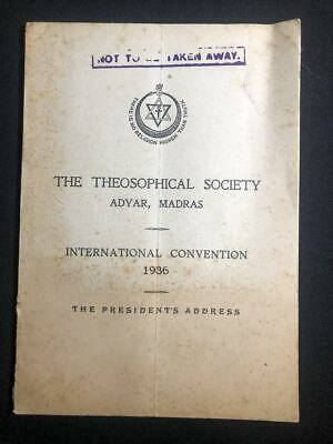 The Theosophical Society International Convention program, 1936, vintage