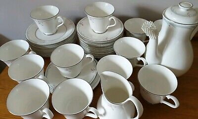 Royal Doulton Carnation Tea /Coffee Set (for 12 People). Very Good Condition