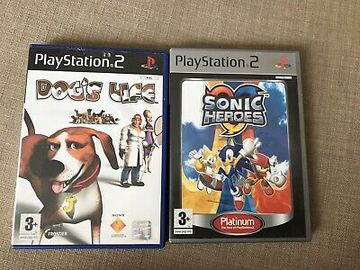Playstation 2 Ps2 2X Games Dogs Life, Sonic Heroes