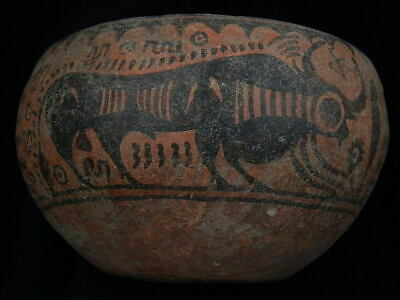 Ancient Large Size Teracotta Painted Pot With Bulls Indus Valley 2500 BC #PT148