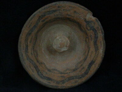 Ancient Large Teracotta Painted Plate With Surpent Indus Valley 2500 BC #PT126