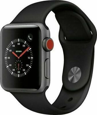 Apple Watch Series 3 42mm GPS + Cellular 4G LTE - Space Gray - Black Sport Band