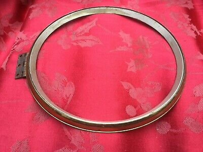 "Good Quality Brass Clock Bezel With Hinge Appro 7 9/16"" 193mm Dia"
