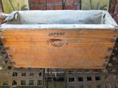 Vintage Antique Japkap Wooden Lead Lined Toilet Wc Cistern Salvage Reclaimed