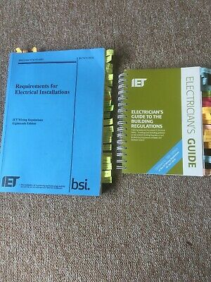 2018 18th Edition BS 7671 & IET Guide to Building Regs Blue - Used Once for Exam
