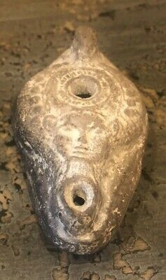 Ancient Egyptian Face Stone Oil Lamp - Yangtze River
