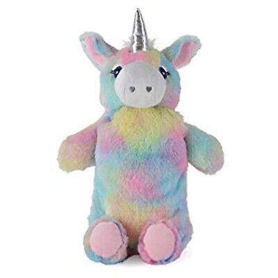 Unicorn Hot Water Bottle with Fluffy Plush Cover Gift for Kids 750ml Rubber Bag