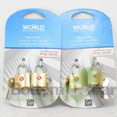 Go Travel World Collection TSA Accepted Travel Sentry Approved Locks (2 Packs)
